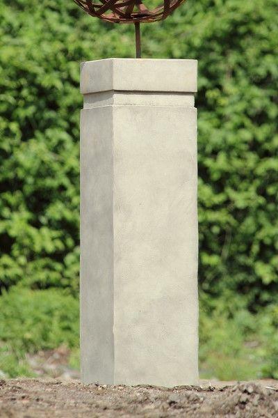 Sockel für Gartenfigur Büste Moderne Romantik, mit Bohrung, Steinguss