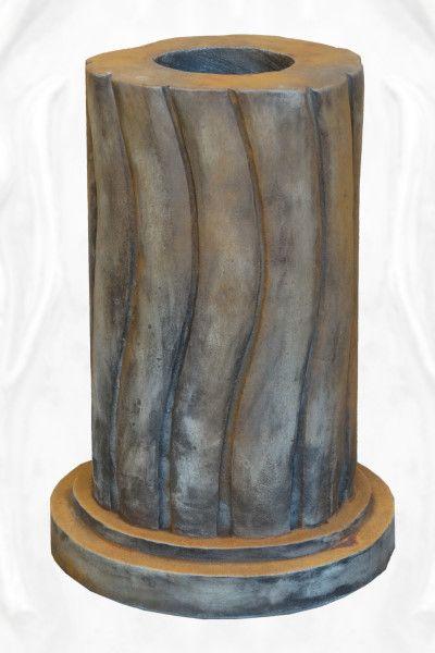 Gartenfigur geschwungene Säule, rund, Rosteffekt für die Baumhüter