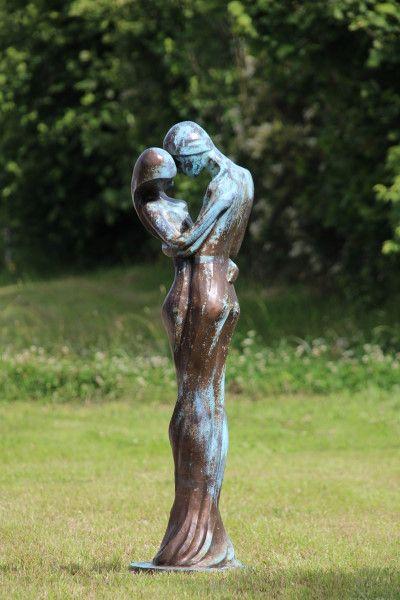 Gartenfigur TRISTAN und ISOLDE, Steinguss, Bronze Optik