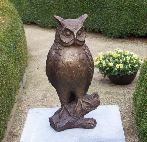 Bronzefigur Eule braun