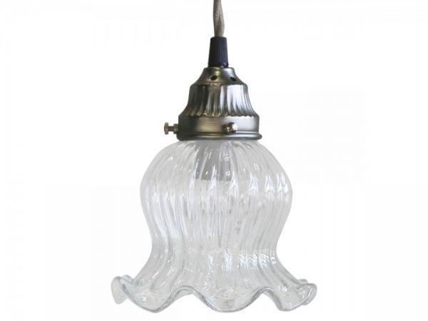 Lampe Tulpe Glas handgemacht von Chic Antique