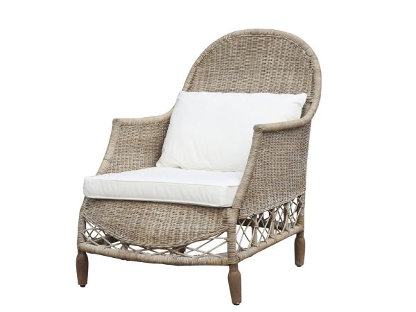 Französicher Stuhl im Geflecht von Chic Antique