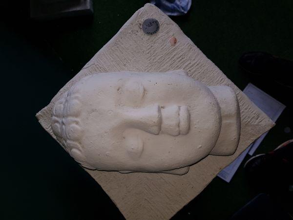 Buddha Gesicht gelegt