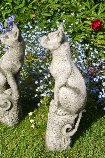 """Gartenfigur #Katze """"BAST"""", Steinguss, © by Fiona Scott"""