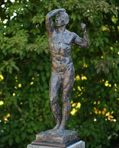 Bronzefigur Der nackte Mann von Rodin