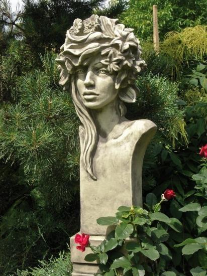 "Gartenfigur Büste Moderne Romantik ""SOMMER"" (Rosi), Steinguss"