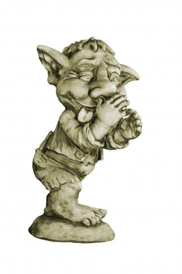 "Gartenfigur Troll Spitzbube ""LEN"", Steinguss"